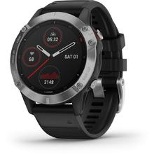 Garmin Fenix 6 Silver black/black band