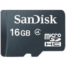 SanDisk MICRO SDHC 16GB Class 4 + adaptér