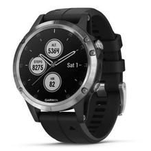 Garmin Fenix 5 Plus Silver, Black Band