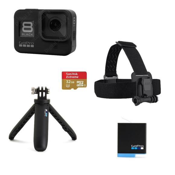 GoPro Hero 8 Black + čelenka + shorty + baterie + SD karta  - 1
