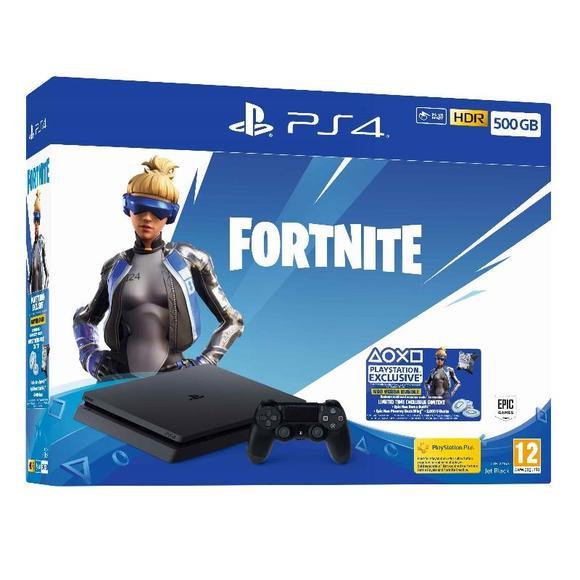 PlayStation 4 Slim, 500GB, Fortnite Edition, Black   - 1