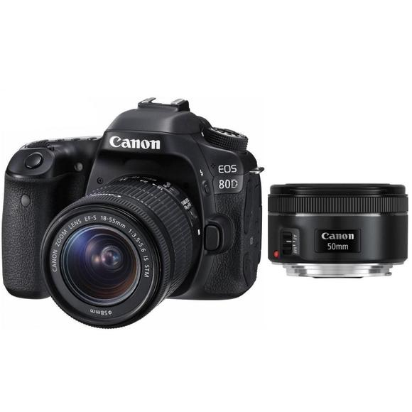 Canon EOS 80D + 18-55 mm IS STM + EF 50 f/1,8  - 1