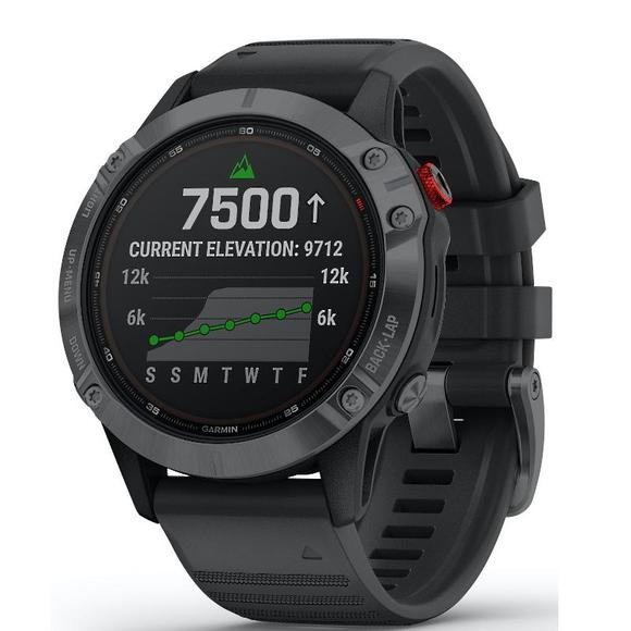 Garmin Fenix 6 Pro Solar, Slate Gray With Black Band  - 1