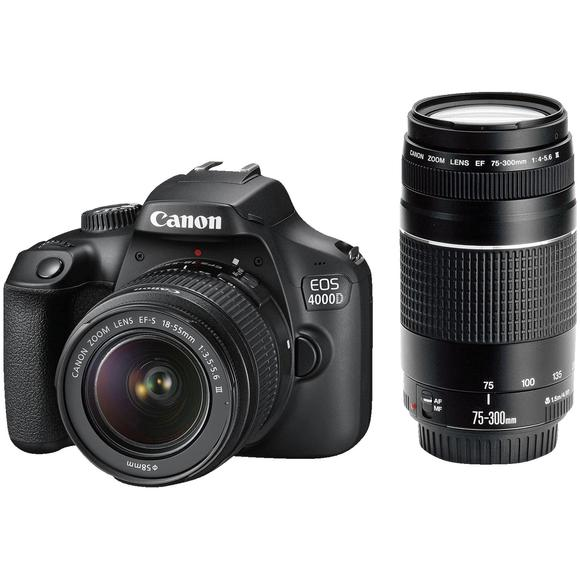 Canon EOS 4000D + EF-S 18-55 DC III + EF 75-300 DC III   - 1