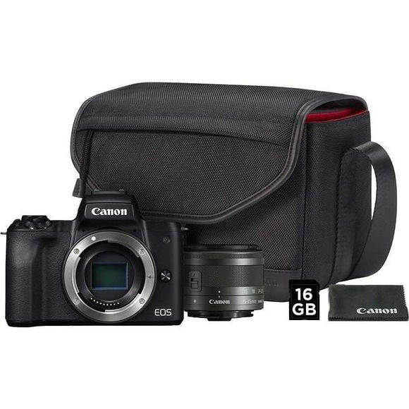Canon EOS M50 + EF-M 15-45 mm IS STM Value Up Kit  - 1