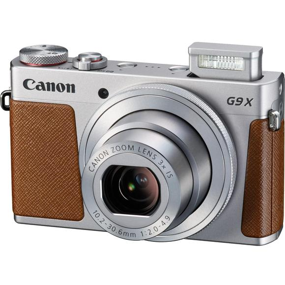 Canon PowerShot G9X, stříbrná  - 1