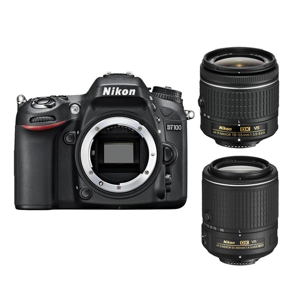 Nikon D7100 + 18-55 AF-P VR + 55-200 mm VR II  - 1