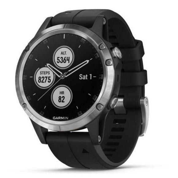 Garmin fenix5 Plus Silver, Black Band  - 1