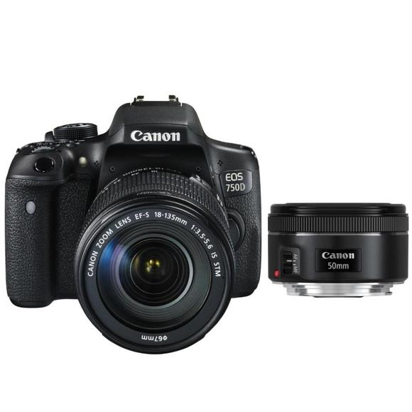 Canon EOS 750D + EF-S 18-135 IS STM + EF 50 f1,8  - 1