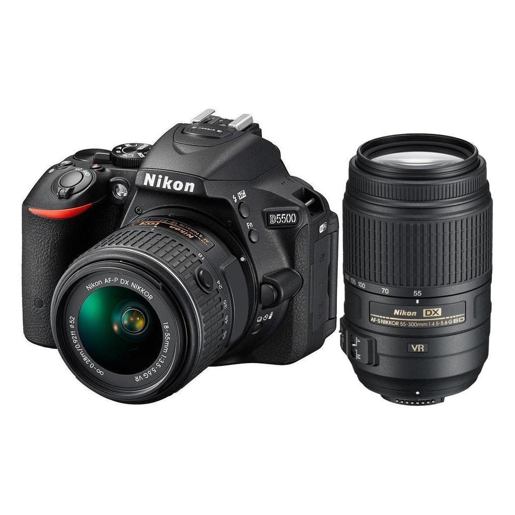 Nikon D5500 + 18-55 AF-P VR + 55-300 AF-S DX VR