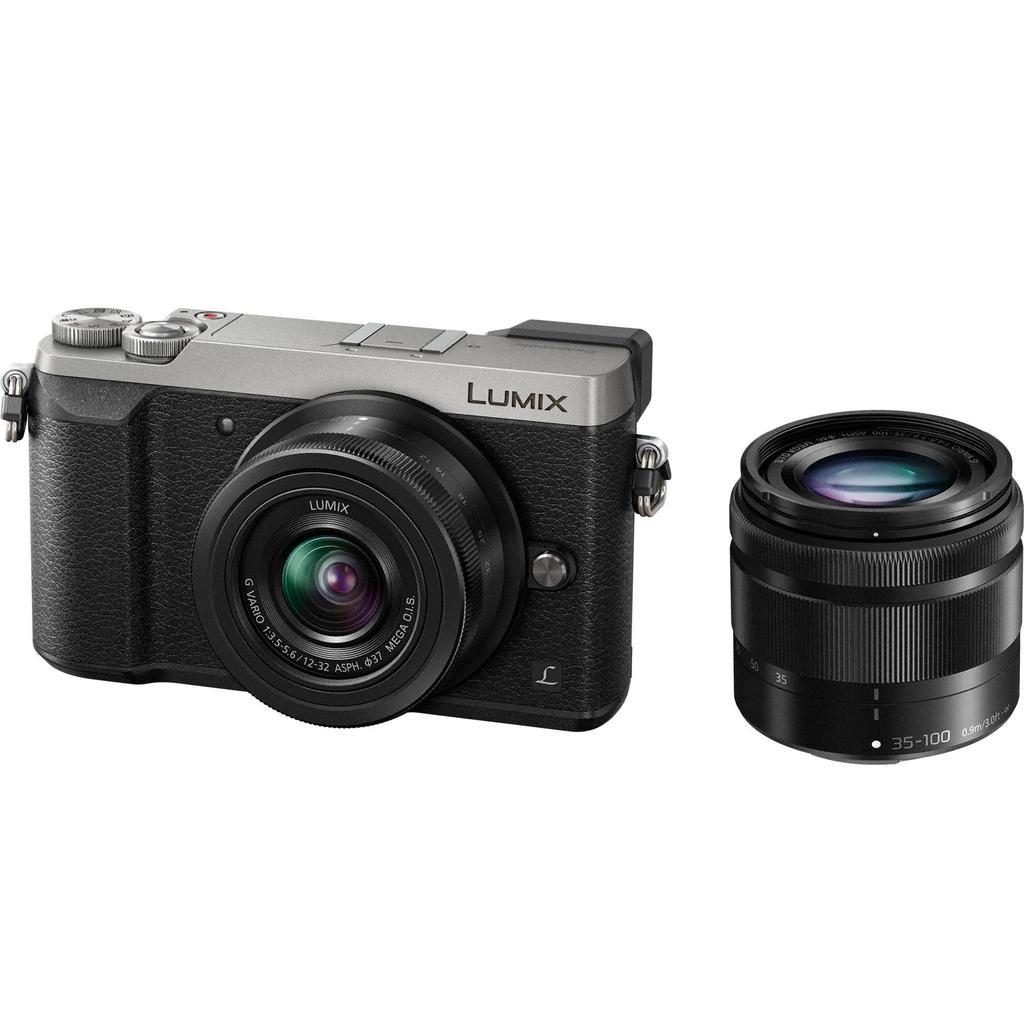 Panasonic Lumix DMC-GX80 + 12-32 + 35-100 stříbrná + Servis plus zdarma