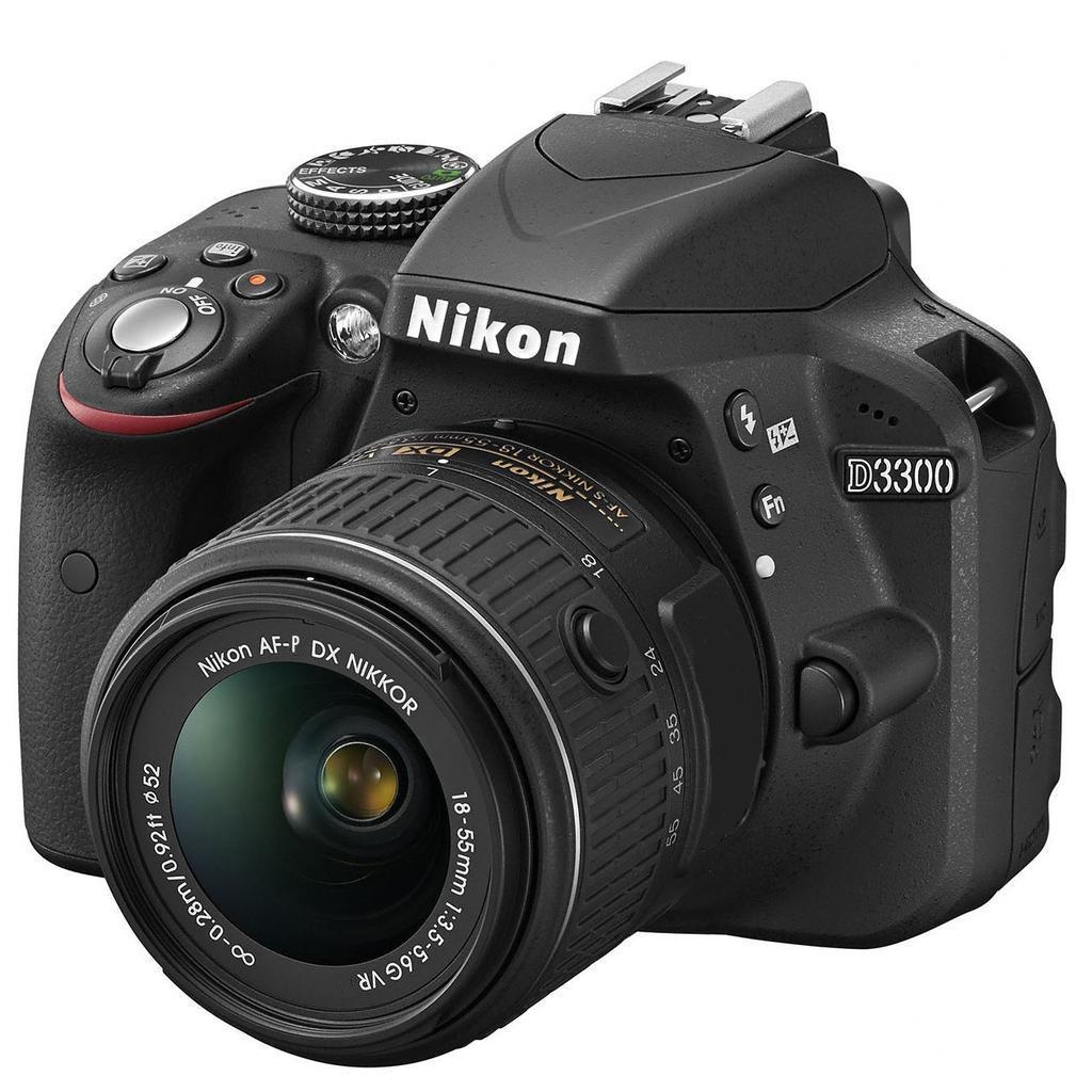 Nikon D3300 + 18-55 VR AF-P, černá