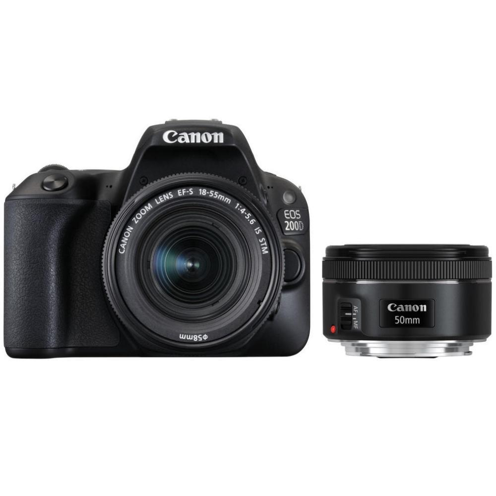 Canon EOS 200D + EF-S 18-55 IS STM + EF 50 f/1,8 + Servis plus zdarma