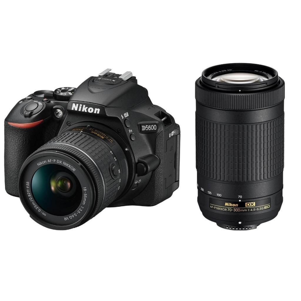 Nikon D5600 + 18-55 AF-P VR + 70-300 AF-P DX + Servis plus zdarma