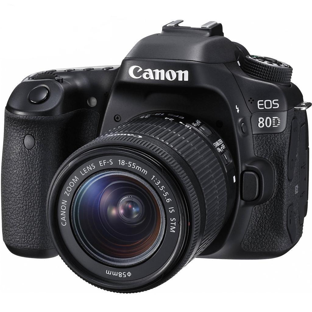 Canon EOS 80D + 18-55 IS STM + 55-250 IS STM + Servis plus zdarma