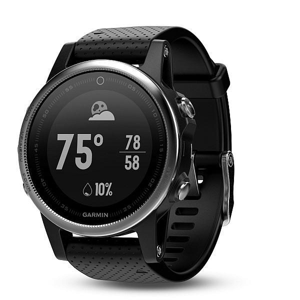 Garmin Fenix 5S silver, black band
