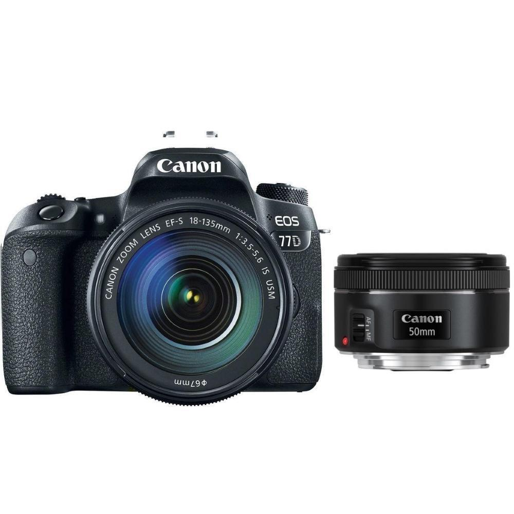 Canon EOS 77D + EF-S 18-135 IS USM + EF 50 f/1,8 + Servis plus zdarma