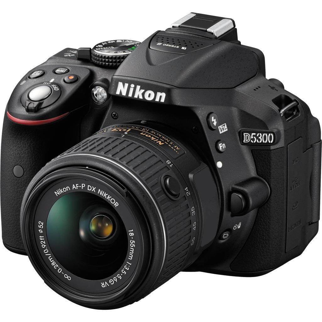 Nikon D5300 + 18-55 VR AF-P, černá + Servis plus zdarma